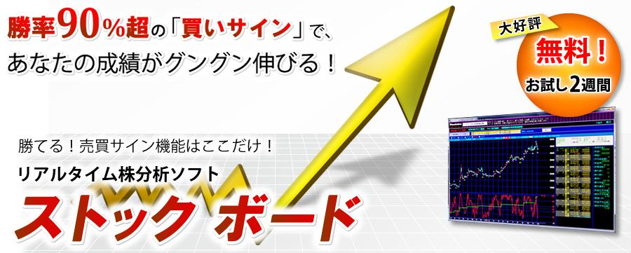 株式投資をサポート リアルタイム株価分析ソフト ストックボード